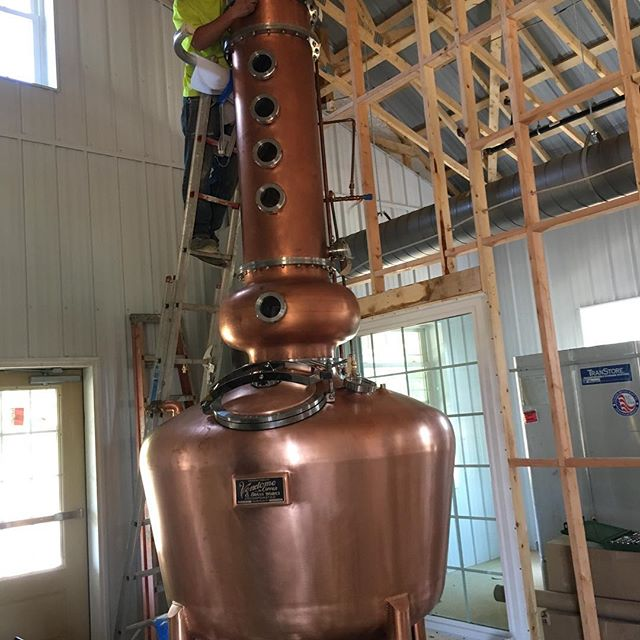 Put the column on our Pot Still